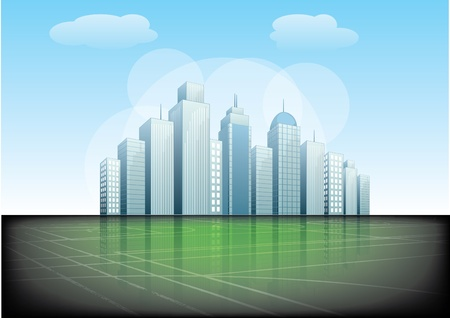 city background  Stock Vector - 17572773