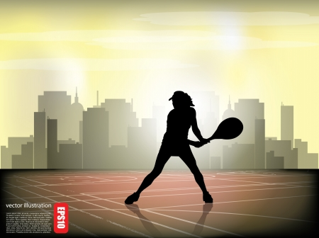tennis player background Stock Vector - 17627537