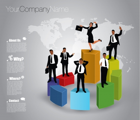 company growth: business chart concept