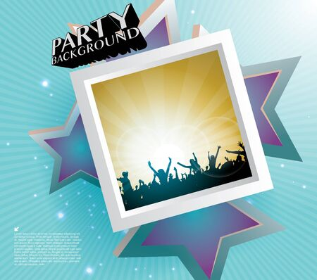 party people frame background Stock Vector - 17859993