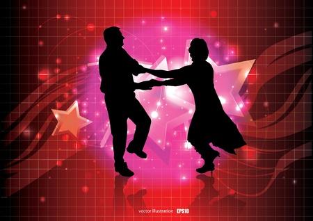 disco dancer: dancing couple background