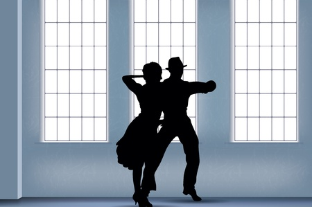 dancing people background   Vector