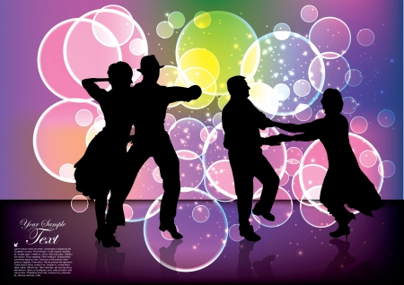 dancing people background