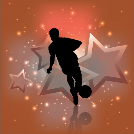 football player background   Vector
