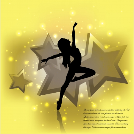 dancing woman background   Vector