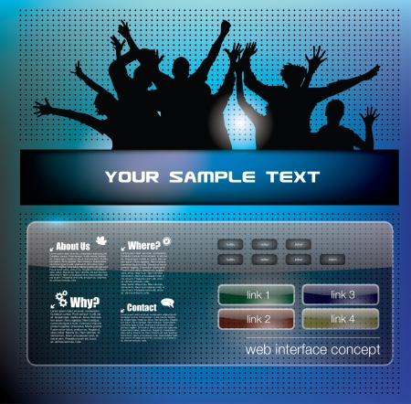 party people background Stock Vector - 18182093