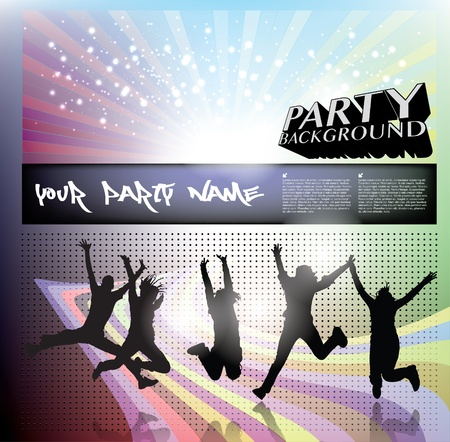 party people background Stock Vector - 18182086