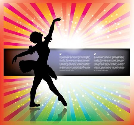 dancing bright background Stock Vector - 18182094