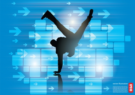 breakdancer background   Vector