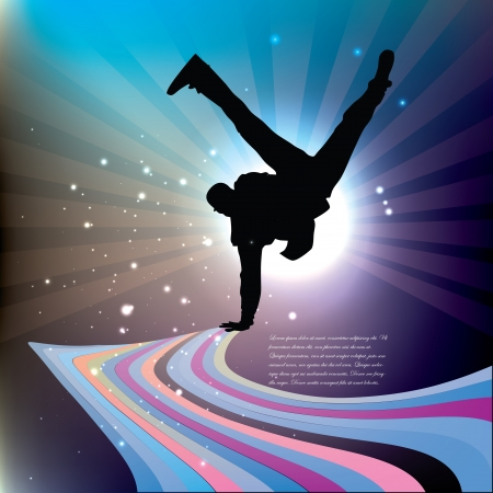 dancing boy background   Vector