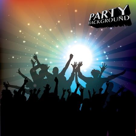 clubbing: music concert background