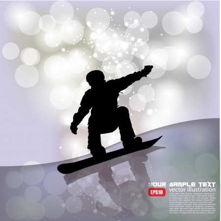 snowboarder background   Vector