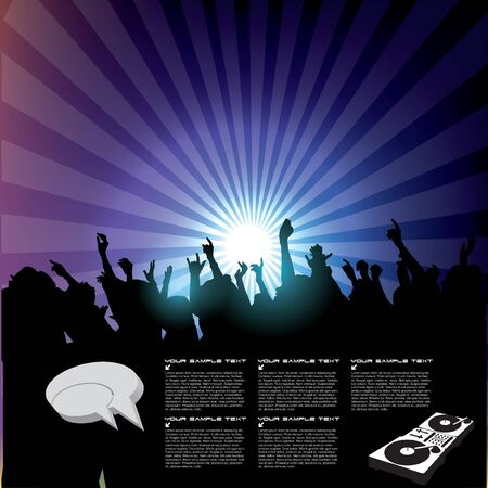 music concert background   Vector