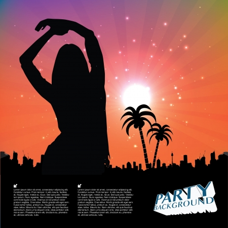 rave: party people background   Illustration