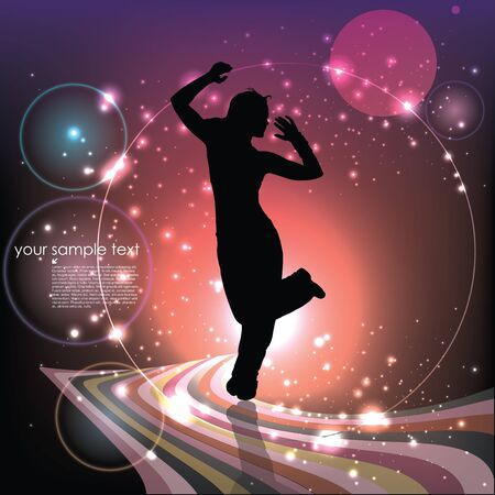 dancing woman background Stock Vector - 18667125
