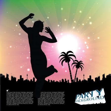 dancing woman background Stock Vector - 18667113