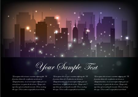 metropolitan: magic city postcard   Illustration