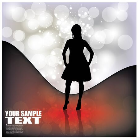 decorative woman on abstract background   Vector