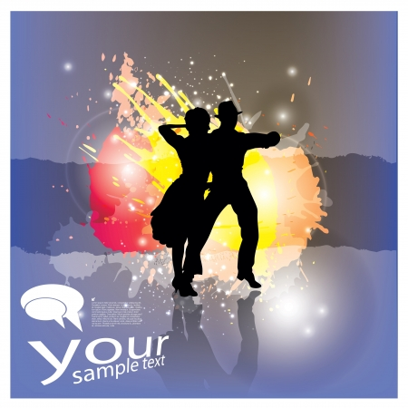latin dance: dancing people background