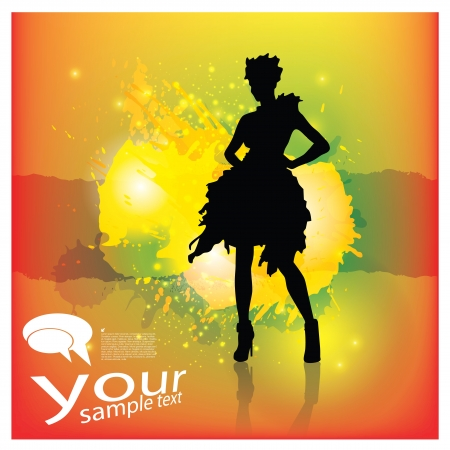 Fashion woman background   Vector