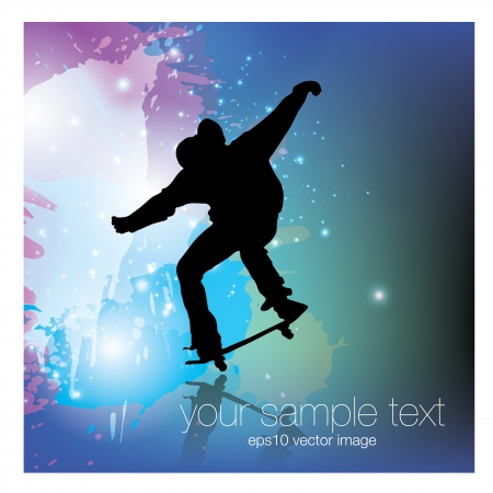 skater: skateboarder grunge background
