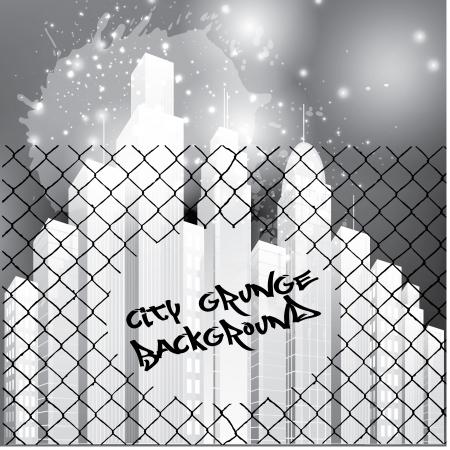 grunge city background   Stock Vector - 19177356
