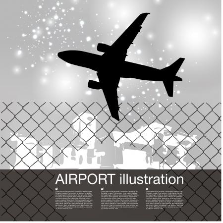plane takeoff background