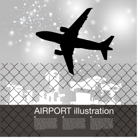 plane takeoff background   Vector