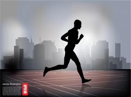 jogging track: running man background
