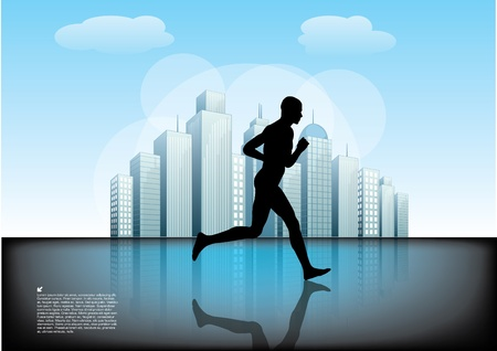 running man background   Vector