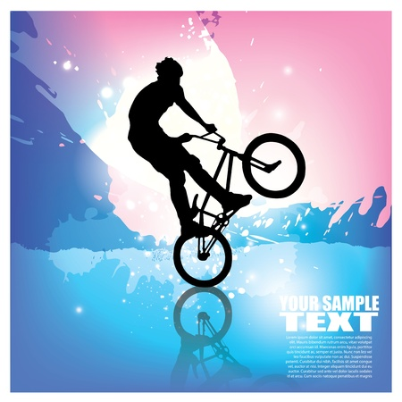 bmx bike: extreme cycling Illustration