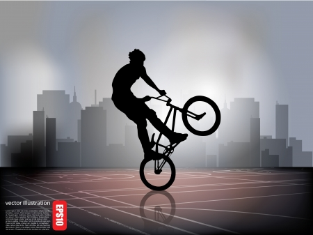 extreme cycling Vector