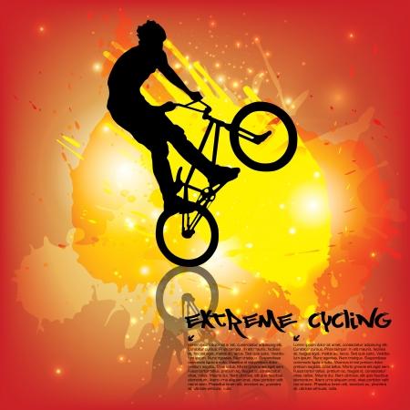 mountain biker: extreme cycling Illustration