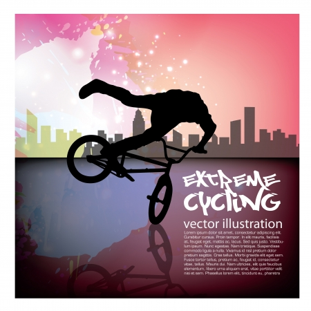 bmx bike: extreme cycling background