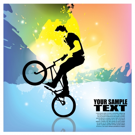 extreme cycling background Stock Vector - 20165838