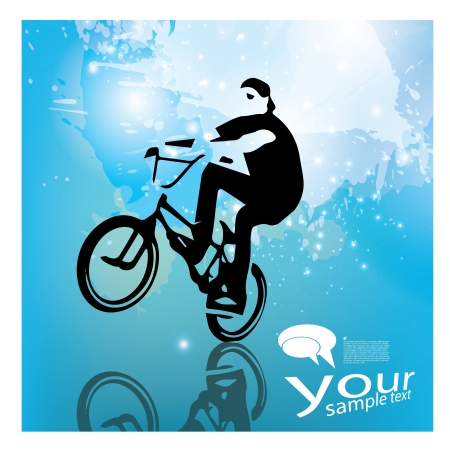 extreme cycling background Vector