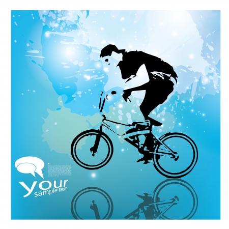 extreme biking background Vector