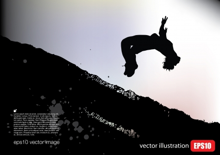 trampoline: dynamic person background Illustration