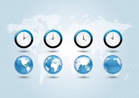 wereld tijd zones