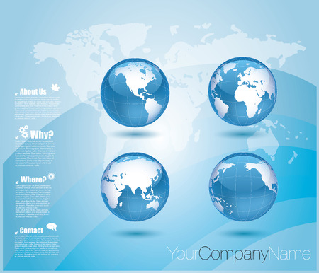 Set of vector globe icons Vector