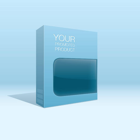 product box: confezione del prodotto Vettoriali