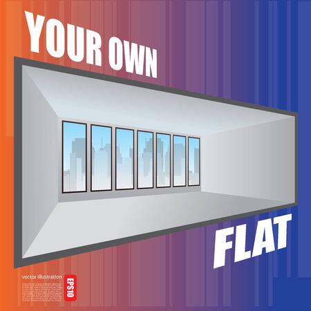 flat concept Vector