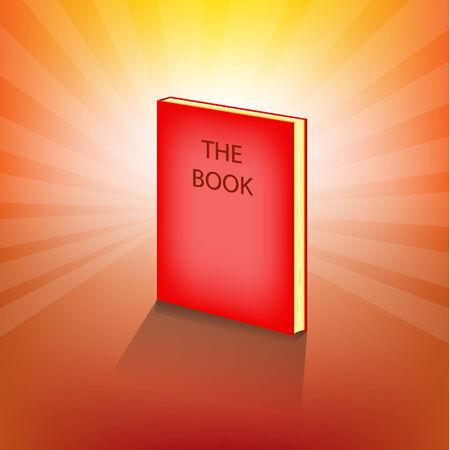 libro caricatura: Libro Rojo Expuesto Vectores