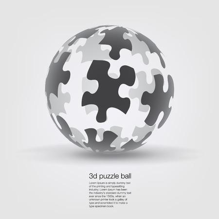 Puzzle Globe Isolated photo
