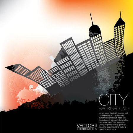 Abstract City Background photo