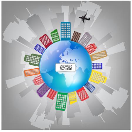 City World Globe Concept photo