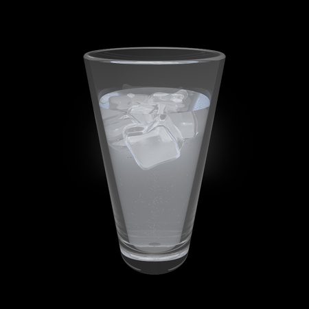 Drink With Ice 3D Render photo