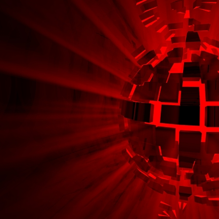 atomic center: Red Explosion Background
