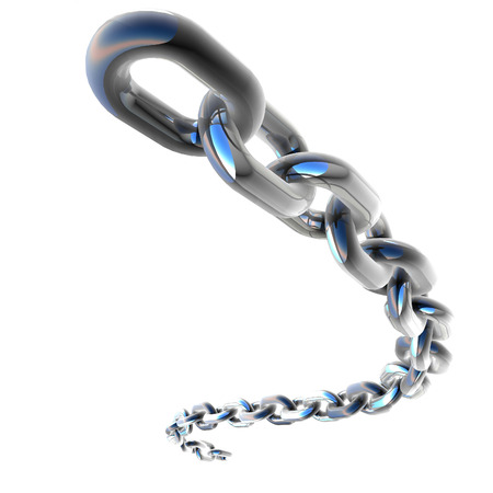 3D Chrome Chain Stock Photo