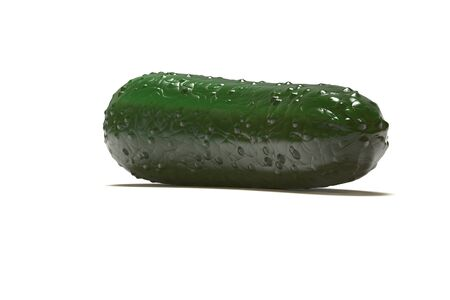 cucumber slice: 3D Render of Cucumber